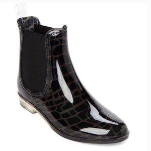 Henry Ferrera Black Refresh Croc Short Rain Boots